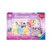 Ravensburger 09277 Disney puzzle - Hercegnők álma (3x49 db-os)