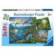 Ravensburger 09317 puzzle - Dinoszauruszok (3x49 db-os)