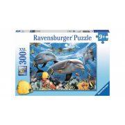 Ravensburger 13052 XXL puzzle - Karibi mosoly, delfinek (300 db-os)