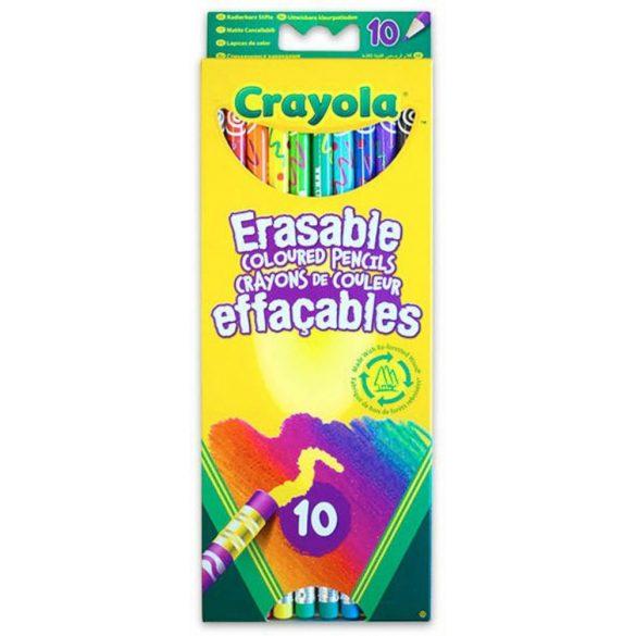Crayola - Színes ceruza radírvégű (10 db)
