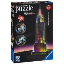 Ravensburger 12566 3D Night Edition puzzle - Empire State Buliding éjjel (216 db-os)