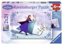 Ravensburger 09115 puzzle - Jégvarázs: Testvérek örökre (2x24 db-os)