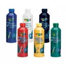 Crayola - lemosható, ecsetkész festék készlet - 6 db, 250 ml-es
