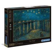Clementoni 39344 Museum Collection Puzzle - Van Gogh, Csillagos éj a Rhone fölött (1000 db)
