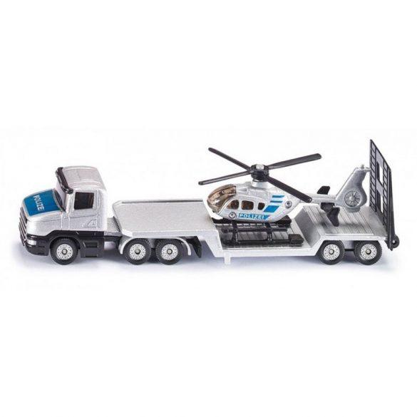 SIKU 1610 Rendőrségi helikopter szállító tréler