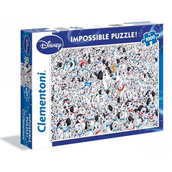 Clementoni 39358 Impossible puzzle - 101 kiskutya (1000 db-os)