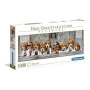 Clementoni 39435 Panoráma Puzzle - Beagle kiskutyák (1000db)