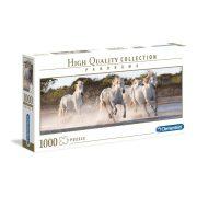 Clementoni 39441 Panoráma Puzzle - Vágtázó fehér lovak (1000 db)