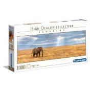 Clementoni 39484 High Quality Collection Panoráma Puzzle - Elefánt a szavannán (1000 db)