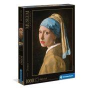 Clementoni 39614 Museum Collection Puzzle - Vermeer, Leány gyöngy fülbevalóval (1000 db)