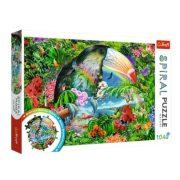 Trefl 40014 Spirál puzzle - Trópusi állatok (1040 db)