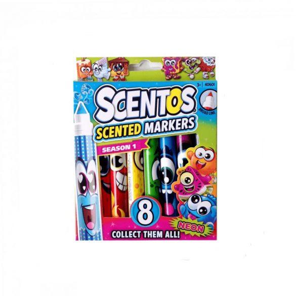 Scentos illatos filctoll - 8 db - NEON színek