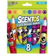 Scentos illatos filctoll - 8 db - ÉLÉNK színek
