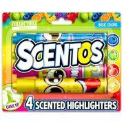 Scentos 4 darabos illatos szövegkiemelő (alap színek)