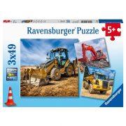 Ravensburger 05032 Puzzle - Óriás munkagépek (3x49 db)