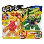 Goo Jit Zu hősei nyújtható akciófigura 2 db-os szett - Golden Blazagon és Rock Jaw
