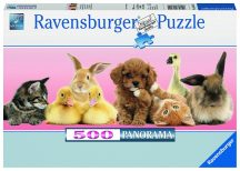 Ravensburger 14801 Panorama puzzle - Állati barátok (500 db-os)