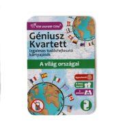 Géniusz Kvartett - A világ országai ismeretterjesztő kártya játék