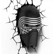 Star Wars Kylo Ren 3D fali lámpa