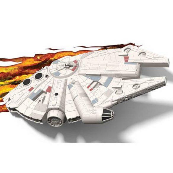 Star Wars Millennium Falcon 3D fali lámpa