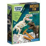 Clementoni Tudomány és játék Archeofun - Világító T-Rex
