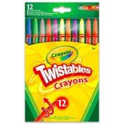 Crayola - 12 db-os csavarozható zsírkréta