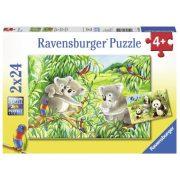Ravensburger 07820 Puzzle - Édes koalák és pandák (2x24 db-os)