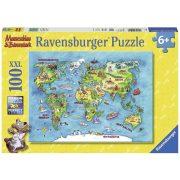 Ravensburger 10595 XXL puzzle - Föld körüli utazás (100 db)
