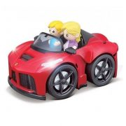 Bburago Junior Ferrari kiugró sofõr piros autóban