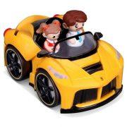 Bburago Junior Ferrari kiugró sofõr sárga autóban