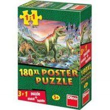 Ravensburger poszter puzzle - Dinók (180 db.os)