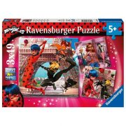 Ravensburger 05189 puzzle - Miraculous, a hõs katicabogár (3 x 49 db-os)