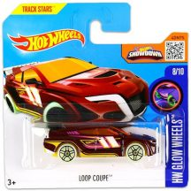 Hot Wheels Glow Wheels 2016 kisautók: LOOP COUPE 8/10 (LILA)