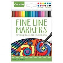 Crayola - Vékony színes filctollak 12 db