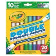 Crayola Kétvégű színes filctoll készlet (10 db-os)