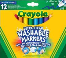Crayola - vastag, kimosható filctoll - 12 db