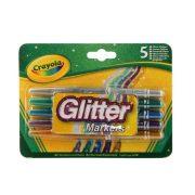 Crayola - Csillámos filctoll (5 db-os)