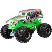 Monster Jam 1:24 kisautó - Grave Digger (ezüst-zöld)