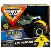 Monster Jam Rev 'N Roar - Felhúzhatós Soldier Fortune kisautó