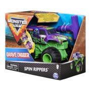 Monster Jam Spin Rippers hátrahúzható kisautó - Grave Digger