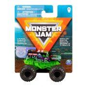 Monster Jam mûanyag kisautó - Grave Digger lila kerekekkel