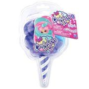 Candylocks Vattacukor hajú illatos meglepetés baba: Kék-lila haj