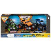 Monster Jam Shaker Collection 3 db-os kisautó csomag - Grave Digger, El Toro Loco és Blue Thunder