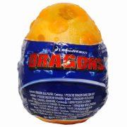 Így neveld a sárkányodat 3 - Plüss Bütyök bébi sárkány figura narancssárga tojásban