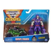 Monster Jam Creatures kisautó figurával - Grave Digger és Grim