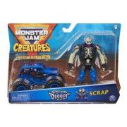 Monster Jam Creatures kisautó figurával - Son-Uva Digger és Scrap