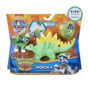 Mancs őrjárat Dino Rescue - Rocky figura Stegosaurus dinoszaurusszal