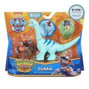 Mancs őrjárat Dino Rescue - Zuma figura Brontosaurus dinoszaurusszal