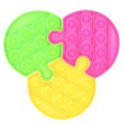 Pop It 24415 puzzle - Háromszög, kör vagy négyzet (14 cm)