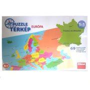 Európa puzzle térkép magyarul (69 db)